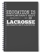 Lacrosse Is Importanter Than Education Spiral Notebook