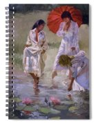 Ladies And Lilies Spiral Notebook