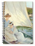 Ladies In A Sailing Boat  Spiral Notebook