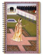 Lady Alone At Holi Festival Spiral Notebook