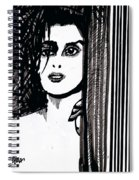 Lady At The Door Spiral Notebook
