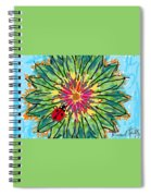 Lady Bug On Flower Spiral Notebook
