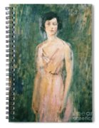 Lady In A Pink Dress Spiral Notebook