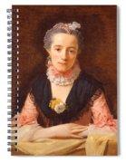 Lady In A Pink Silk Dress Spiral Notebook