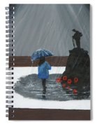 Lady In Blue 3d Spiral Notebook