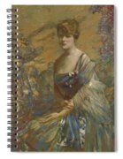 Lady In Blue Spiral Notebook