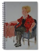 Lady In Chair Spiral Notebook