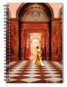 Lady In Golden Gown Walking Through Doorway Spiral Notebook