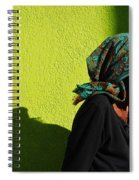 Lady In Green Spiral Notebook