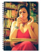 Lady In Read Spiral Notebook