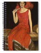 Lady In Red - Mrs Owen Barton Jones Spiral Notebook