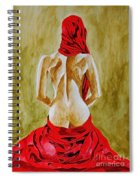 Lady In Red Three Spiral Notebook