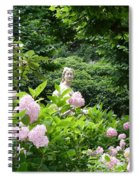 Lady In Salzburg Garden Spiral Notebook
