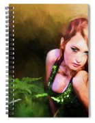 Lady In The Ferns Spiral Notebook