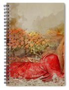 Lady In The Leaves 1 Spiral Notebook