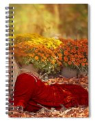 Lady In The Leaves Spiral Notebook