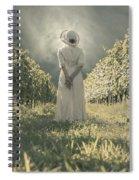 Lady In Vineyard Spiral Notebook