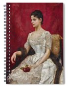 Lady In White Spiral Notebook