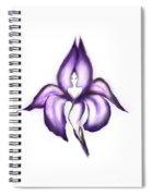 Lady Iris Spiral Notebook