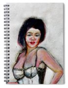 Lady Jane With Red Lipstick Spiral Notebook