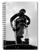 Lady Justice Spiral Notebook