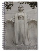 Lady Liberty On Alamo Monument Spiral Notebook