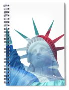Lady Liberty With French Flag Spiral Notebook