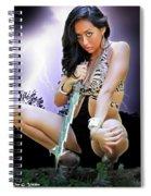 Lady Lightning  Spiral Notebook