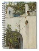 Lady On A Balcony, Capri Spiral Notebook