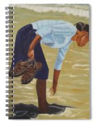 Lady On The Seashore Spiral Notebook