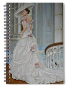 Lady On The Staircase Spiral Notebook