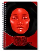 Lady Red Spiral Notebook