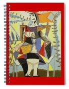 Lady Sitting Spiral Notebook