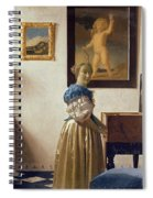 Lady Standing At The Virginal Spiral Notebook