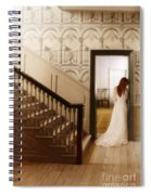 Lady Standing In A Doorway Spiral Notebook
