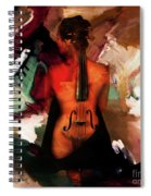 Lady Violin 01 Spiral Notebook