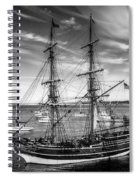 Lady Washington In Black And White Spiral Notebook