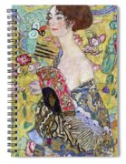 Lady With A Fan Spiral Notebook
