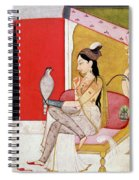 Lady With A Hawk Spiral Notebook