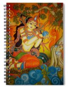 Lady With A Lotus Spiral Notebook
