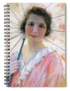 Lady With A Parasol 1921 Spiral Notebook