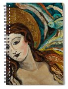 Lady With Bird Spiral Notebook