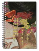 Lady With Hat Spiral Notebook
