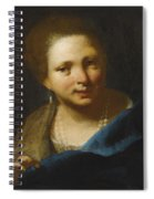 Lady With Pearls Spiral Notebook