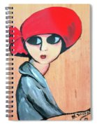 Lady With Red Hat Spiral Notebook