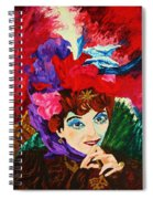 Lady With The Red Hat Spiral Notebook