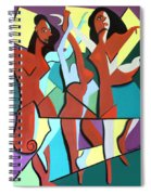 Ladys In Red Spiral Notebook