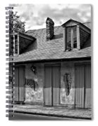 Lafittes Blacksmith Shop Bar In Black And White Spiral Notebook