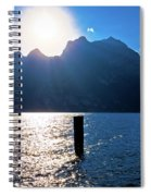 Lago Di Garda At Sunset View Spiral Notebook