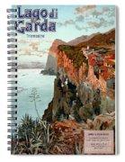 Lago Di Garda Lake Garda Vintage Poster Spiral Notebook
